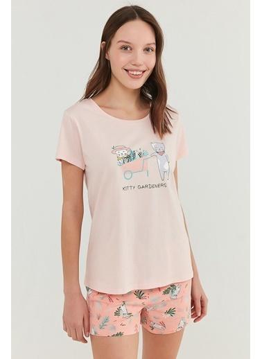 Penti Gardener şort Takımı  Kadın  Pijama Takımı  Ana Kumaş Elastane 5,00 Ana Kumaş Cotton 95,00 Ana Kumaş Cotton 100,00   Pembe